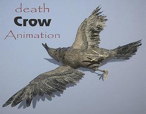 Crow death animation 3D model animated