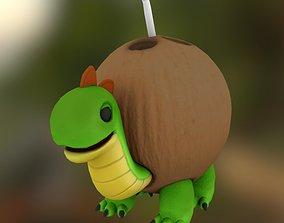 Coconut Turtle toy decor 3D asset