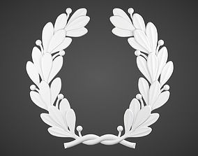 Laurel Wreath 3D printable model bottom-flat