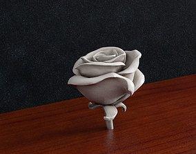 Rose flower 3D print model