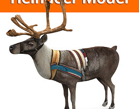 VR / AR ready Reindeer model Game ready low poly 3D