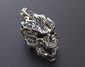 undead 3d Printable Skull Pendant