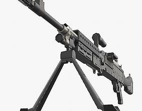 3D model VR / AR ready M240 machine gun