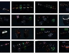 3D model 8k Sci Fi Space Props Pack Gadgets 9 Color 2