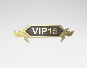 3D asset Game VIP Symbol v4 011
