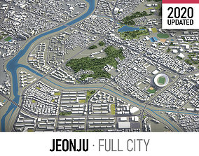 3D asset Jeonju - city and surroundings
