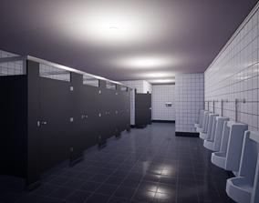 Modular Public Restroom 3D asset
