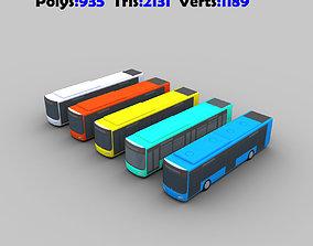 3D model Low Poly Bus