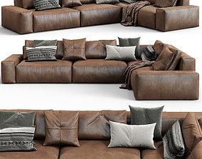 Jesse Leather sofa Daniel composition 6 3D