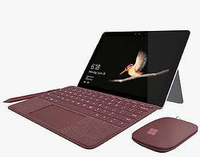 Microsoft Surface Go with Keyboard All Colors 3D