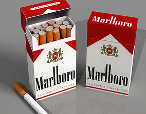 pack of cigarettes 3D model game-ready