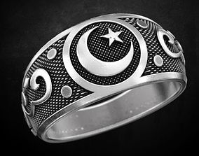 3D print model Crescent ring many size 173 crescent