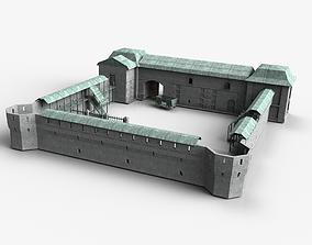 3D asset Fort modular