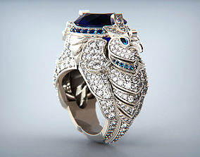 3D print model Boucheron Eagle Ring replica