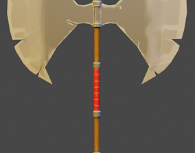 3D model Medieval weapon - axe
