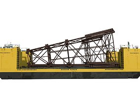 3D model Heavy Lift Carriers barge FELS CAN DO II