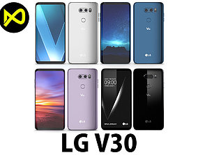 LG V30 All Colors 3D model