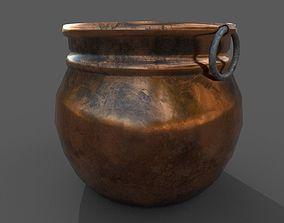 3D model Medieval Copper Cooking Pot