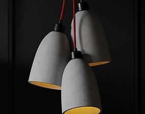 3D model Fancy Concrete Ceiling Pendant Lamp