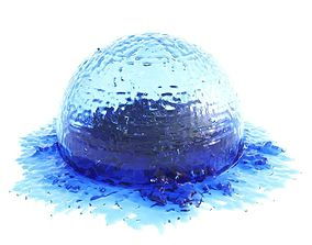 3D Splash Stain Sphere