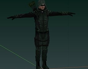 3D model rigged The Green Arrow CW