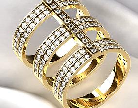 Silver or Golden Ring 3D print model