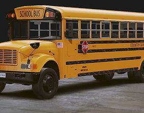 Realistic School bus 3D model