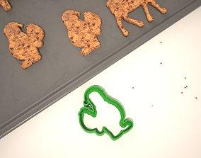 3D printable model Cookie mold Santa bringing gifts