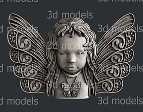3d STL models for CNC router butterfly angel