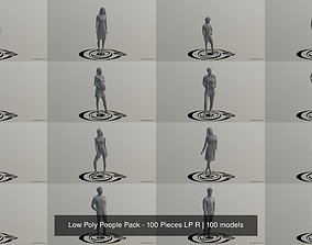 3D Low Poly People Pack - 100 Pieces LP R