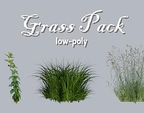 3D asset Low-poly Grass Pack