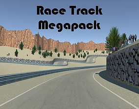3D model Race Track Megapack