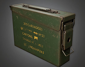Ammo Container Box 01 - MLT - PBR Game 3D model