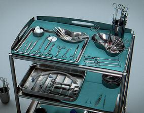 Surgical Instruments - Medical Equipment 3D model 1