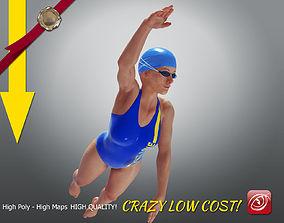 SwimmingpoolgirlCCrawl P3 3D model