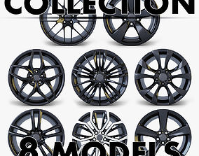3D model Car Rim Wheel Collection volume 1