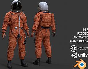 3D asset CS02 Male Space Suit LITE VERSION