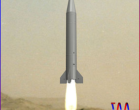 Al Samoud II Ballitic Missile 3D model