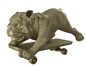 3D model Skating dog