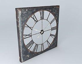 3D Metal clock houses the world