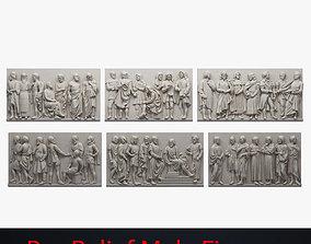 Bas Relief Male Figures 3D asset