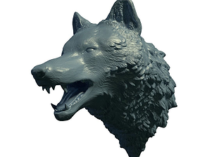 Wolf head sculpt 3D print model