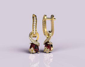 3D print model Earrings Butterfly