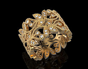 3D print model Flora ring