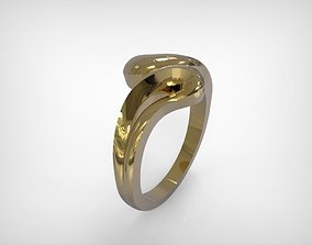 3D print model Jewelry Gold Ring Wavy Design