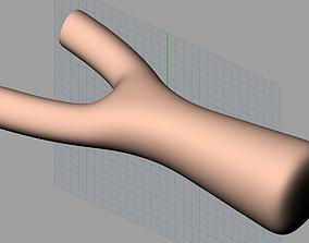 CNC Wood Carving Model Trunk Slingshot C014