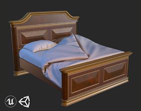 Vintage Furniture Bed PBR Game Ready 3D asset
