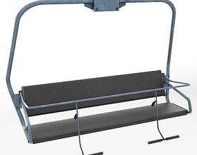 3D model Ski lift chair