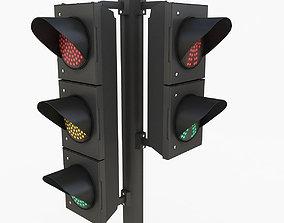 Traffic Light 3D model fbx