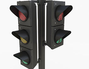 Traffic Light 3D model fbx